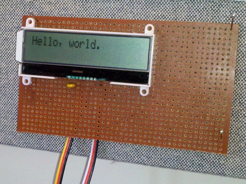 I2C communications with Newhaven LCD Panel